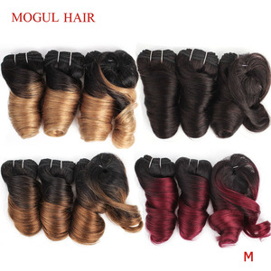 Image 1 - MOGUL HAIR Ombre Honey Blonde Romance Curl Short Style Ombre Remy Cheap Human Hair Natural Color 155g/set Brazilian Loose Wave