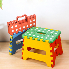 Plastic folding stool foot step stool childrens shower stool outdoor travel portable small bench chair with carry handle