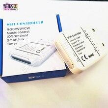 16 milyon renk Wifi 5 kanal RGBW/WW/CW led kontrol akıllı telefon kontrolü müzik ve zamanlayıcı modu sihirli ev wifi led denetleyici