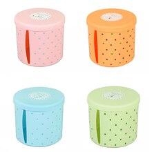 1 шт. дизайн рулон коробка-держатель для бумаги пластиковый диспенсер для салфеток круглый Toliet ванная комната водонепроницаемый бумажный контейнер для хранения