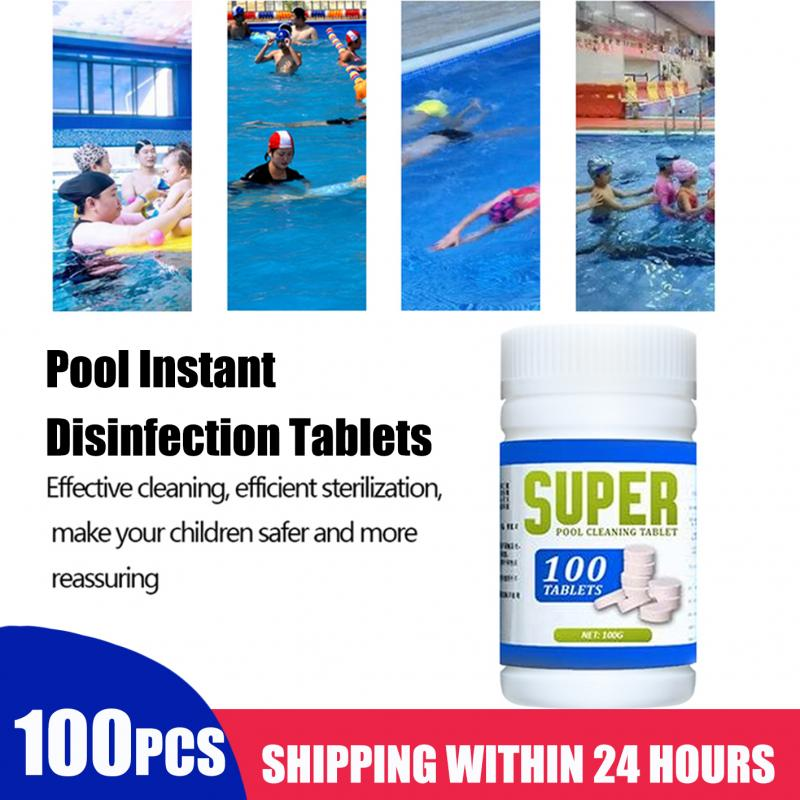 100Pieces Of Swimming Pool Instant Disinfection Tablets Chlorine Dioxide Effervescent Tablets Disinfectant Chlorine Disinfectant