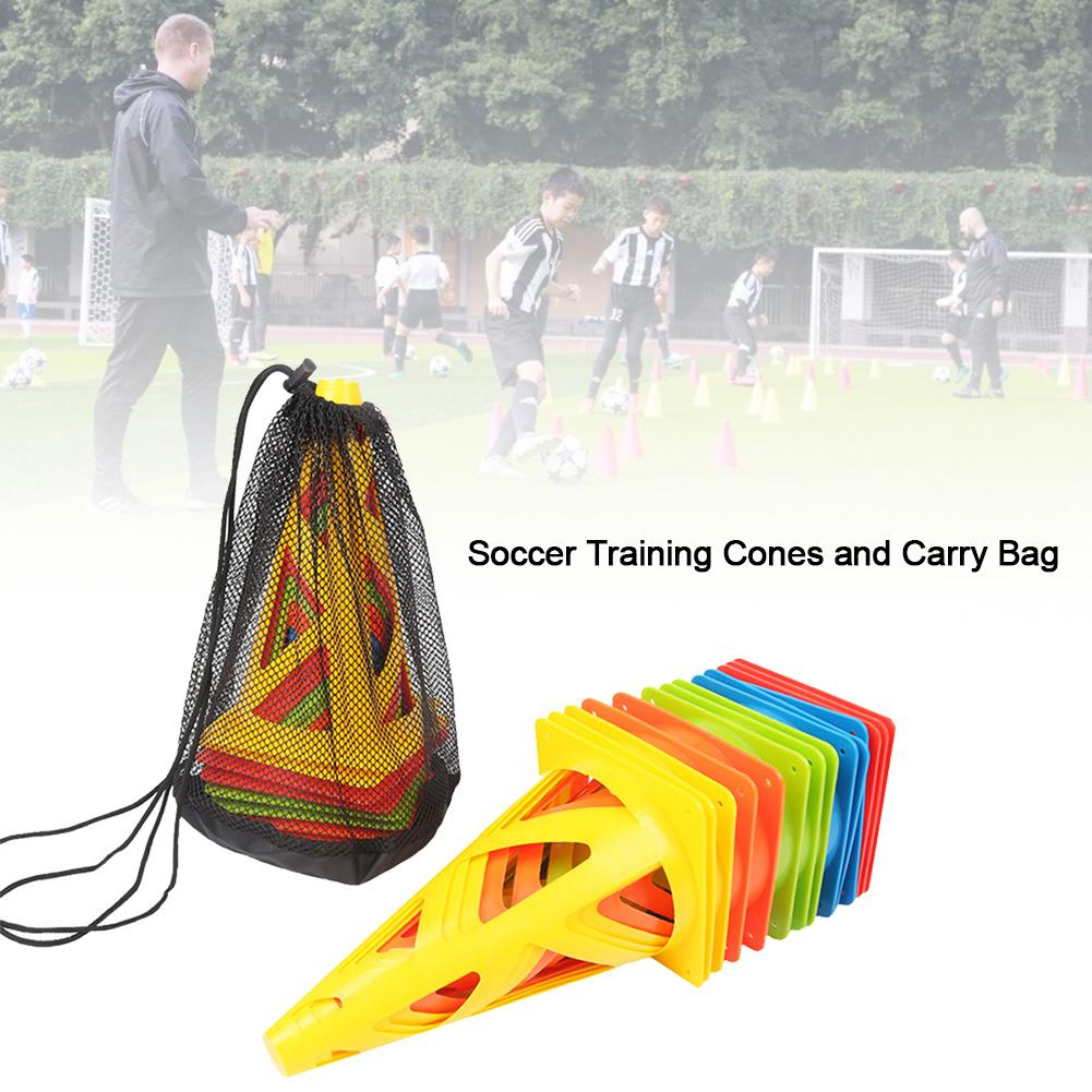 10PCS Durable Sports Skating Football Ccer Training Cones Hollow Durable Windproof Collapsible Soccer Cones For Kids Adults