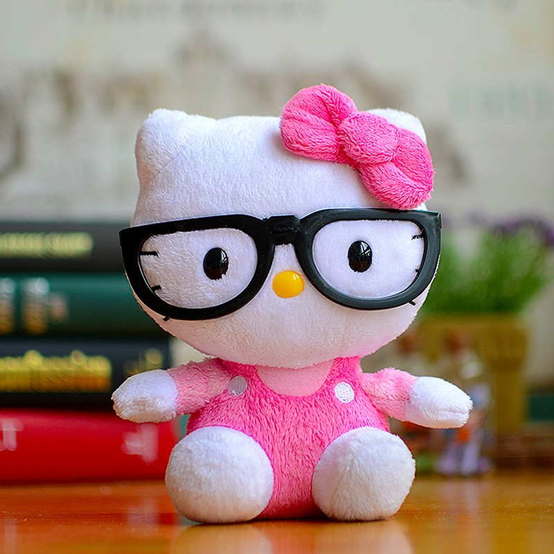Bow Hello Rainbow Cotton Candy Plush Toys Sweet Kawaii Dolls Kitty Cat Kids Cute Cartoon Stuffed Animals Girls Children Gifts