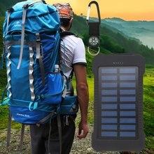 3500mAh Dual USB Portable Solar Power Bank High Capacity Mobile Phone Charger Outdoor Travel PowerBank Environmentally-friendly