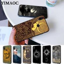 Sun and moon Black Silicone Case for Redmi Note 4X 5 Pro 6 5A Prime 7 8