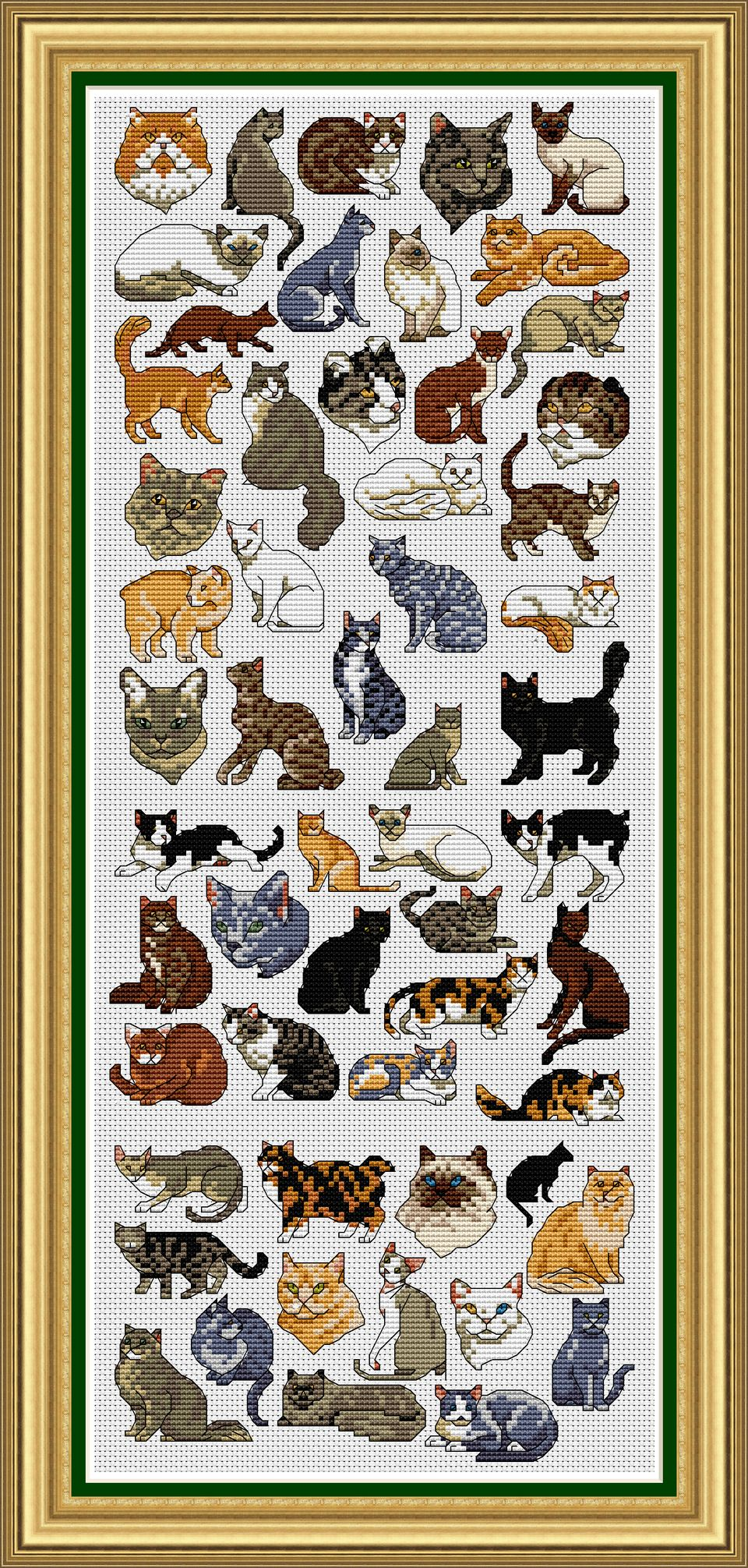 KTF019 Cross Stitch Kit Cartoon Cat Art Homfun Maison Cross Stich Painting Joy Sunday Christmas Decorations For Home Homefun image