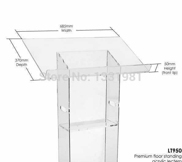 Freies verschiffen heißer verkauf moderne acryl rednerpult/Hohe qualität acryl podium