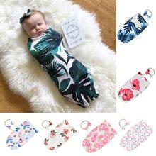 Muselina mantas de bebé con arco diademas Floral suave imprimir recién nacido mantas gasa para el baño infantil abrigo saco cochecito Deken de bebé
