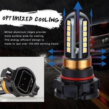 Żarówki reflektorów samochodowych V6 samochodu cztery boki jasna biała 6000K LED światła przeciwmgielne H16 5202 dla światła przeciwmgielne samochodu światła samochodowe akcesoria tanie i dobre opinie JOSHNESE CN (pochodzenie) 12 v 6000 k