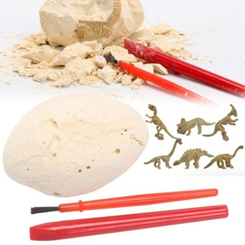 Dino Egg Dig Kit Break Open Unique Dinosaur Eggs Discover Cute Dino Models Archaeology Science Learning & Education image