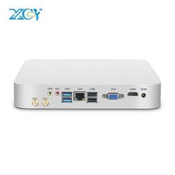 XCY Mini Pc Intel Core i7 i3 i5 Win 10 Micro Kantoor Computer Linux Tv Box Minipc HDMI VGA WiFi gigabit Ethernet 6xUSB