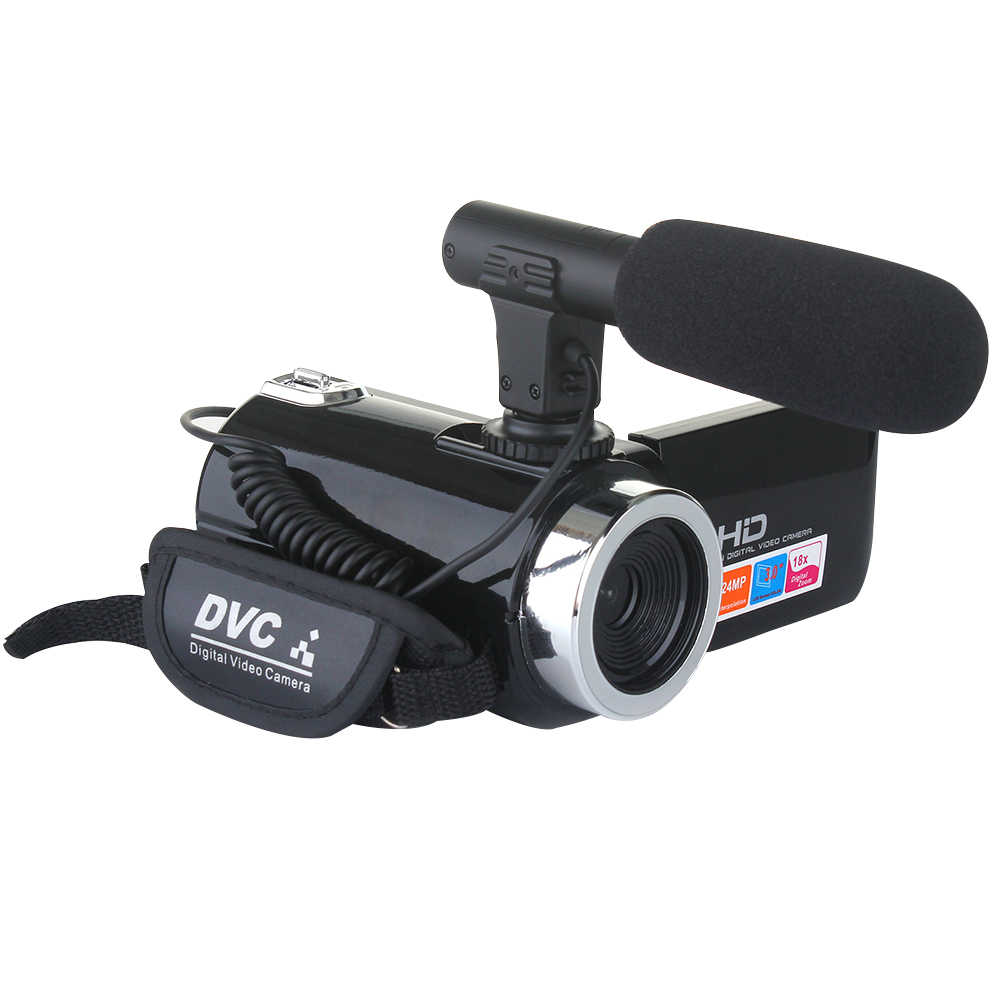 18X Digital Zoom Outdoor Fotografie Recorder Mit Mikrofon 24,0 MP Camcorder Professionelle Volle HD COMS Sensor Video Kamera