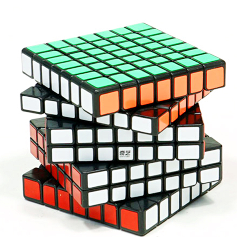 New Arrival Original QiYi Qixing7 7x7x7  Magic Speed Cube 7x7 Stickerless Black Competition Puzzle Cubes Education
