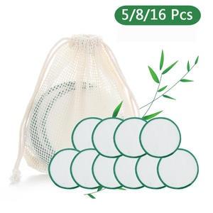 Cotton Reusable Wipe-Pad Makeup-Remover-Pads Skin-Care-Tool Facial-Cleansing-Towel Bamboo