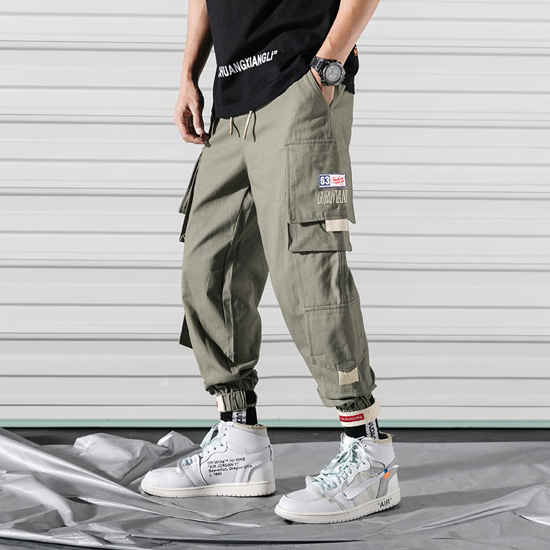 Men Trend Pants Plus-sized Versitile Fashion Casual Pants Loose Teenager Popular Brand Students Pure Cotton Bib Overall