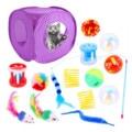 15 шт./компл. набор игрушек для кошек домашние интерактивные игрушки для котят складной мяч из десяти перьев игрушки для мыши игрушки для кош...