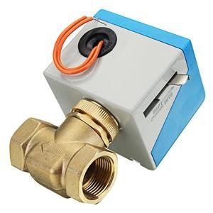 """Image 3 - 3/4 """"robinets darrêt en laiton électriques motorisés 2 fils ca 220V femelle vanne darrêt bidirectionnelle"""