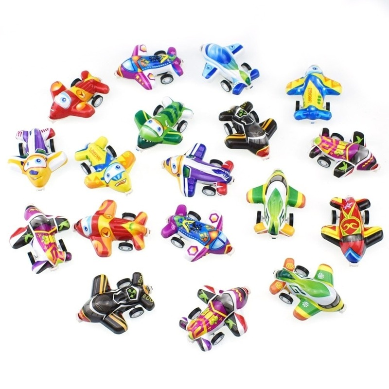 32PCS Pull Back Aircraft Toy Plane Party Favor Mini  Airplanes Set For Boys Kids Child Birthday Play Plastic  Gift