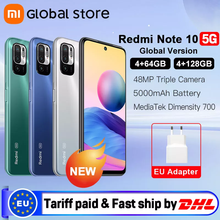 Global Version Xiaomi Redmi Note 10 5G NFC 4GB 64GB/4GB 128GB Smartphone Dimensity 700 90Hz Display 48MP Camera 5000mAh