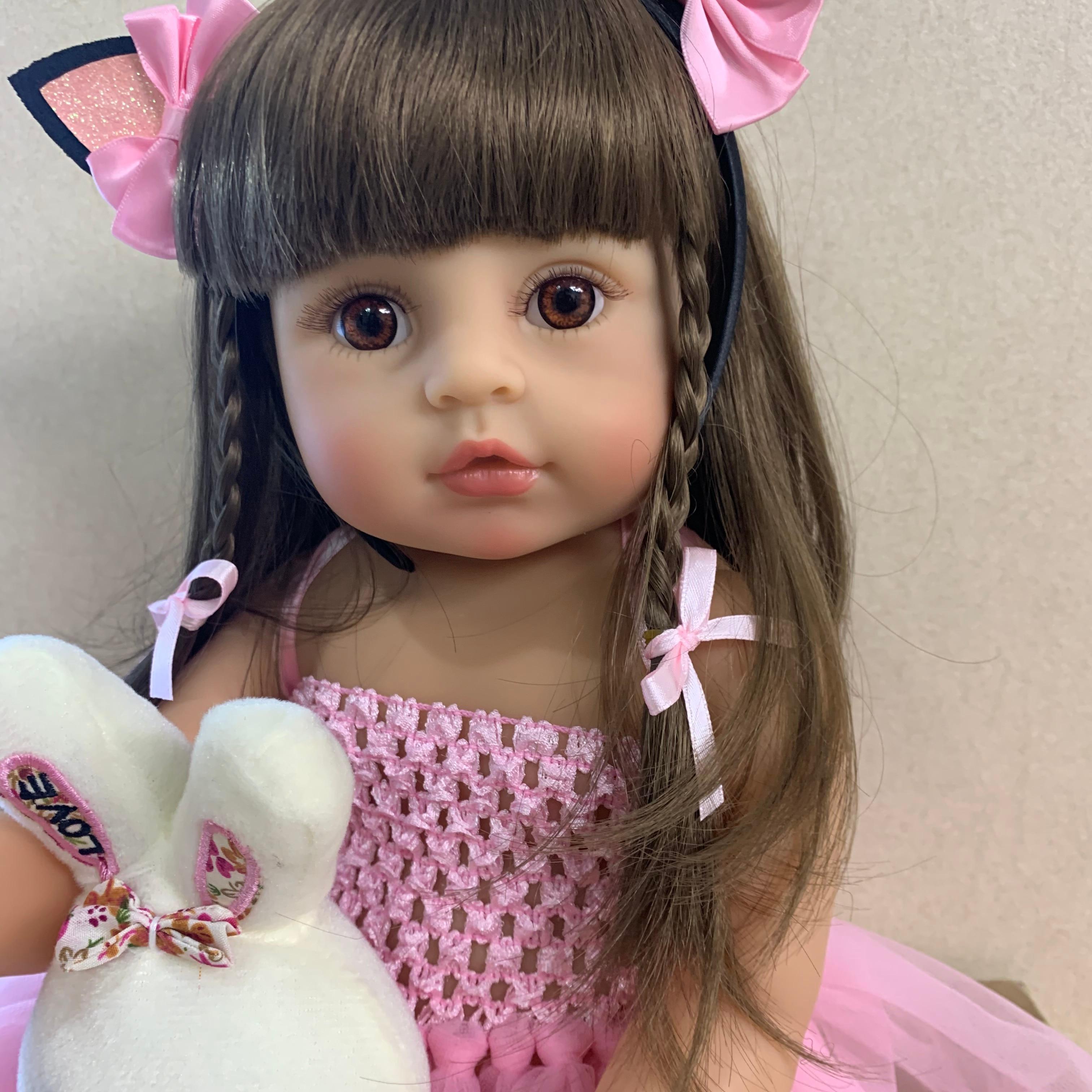 Новинка, оригинальное милое лицо, NPK bebe, кукла, Реборн, для маленьких девочек, розовая принцесса, baty, игрушка, очень мягкий, полный корпус, силиконовая кукла для девочек, surprice Куклы      АлиЭкспресс