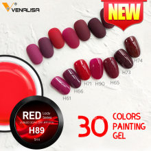 Red Nail Gel Polish Nail Art Kleur Gel Varish 5 Ml Venalisa Canni Gel Nagellak Nieuwe(China)