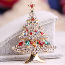 Women Christmas Tree Brooch Scarf Clip Christmas Gift Party Wedding Jewelry Brooches Clothes Accessories Vintage Brooches Gifts(China)