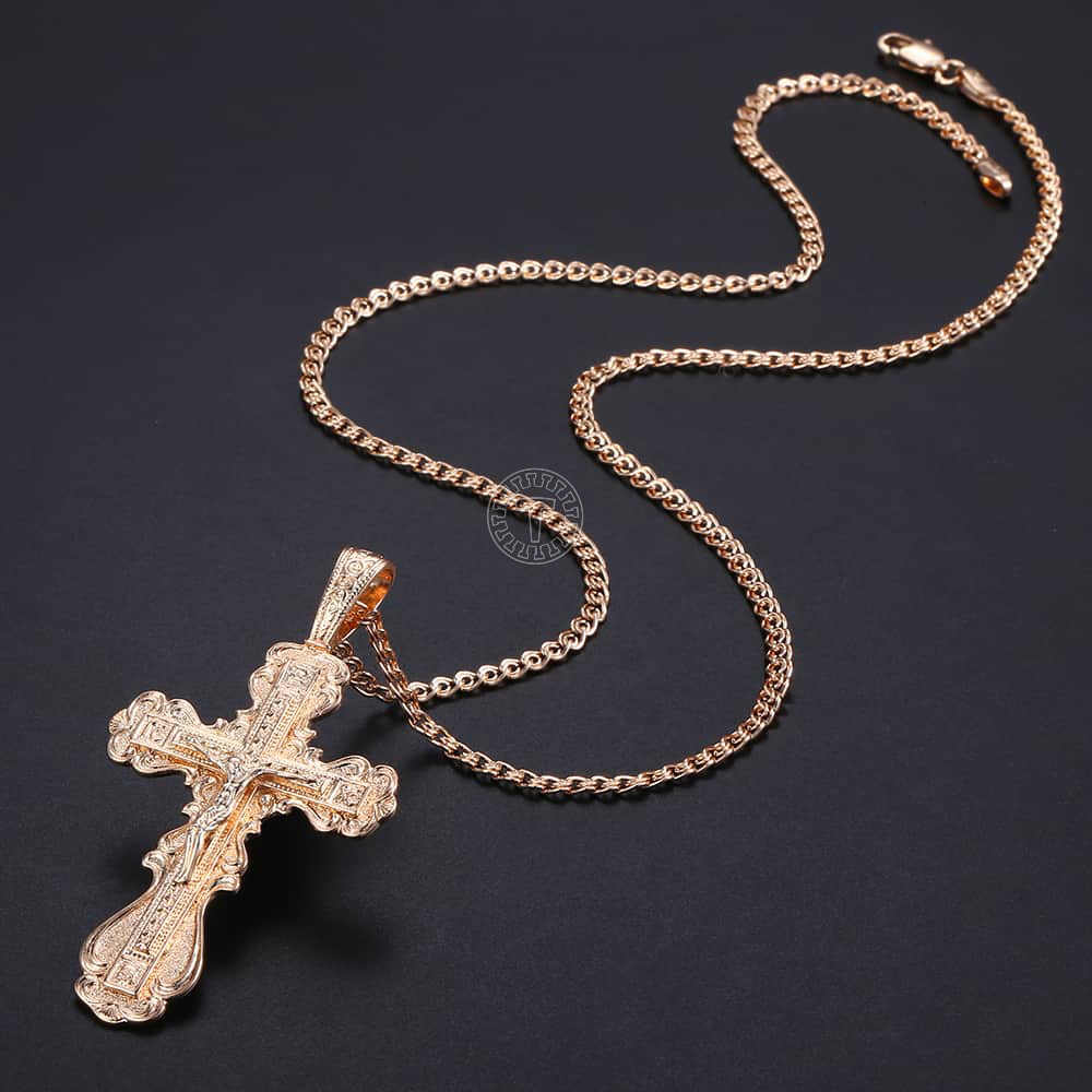 Hip Hop 6mm GRAY Bead Silver Cz Rosary Jesus Cross Religious Necklace Chain