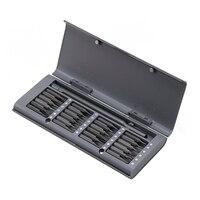 Uso diário chave de fenda kit 24 precisão bits magnéticos caixa de plástico parafuso driver conjunto para xiaomi huawei iphone ipad casa inteligente conjunto