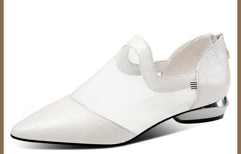 Moda kadın sandalet 2019 nefes konfor alışveriş bayanlar yürüyüş ayakkabısı yaz platformu siyah Sandal ayakkabı E565