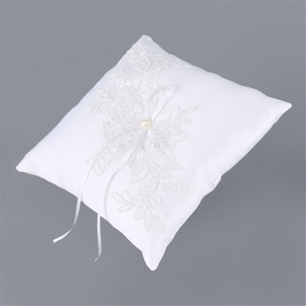 PMJZ054 Romantic Wedding Ring Pillow Ring Pad Bridal Ornament Portable Wedding Decoration Wedding Supplies