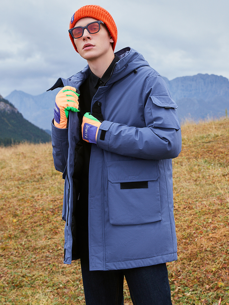 Pioneer Camp Winter Men Long Down Jacket Duck Thick Hooded Causal Pocket Warm Coats For Male 2019 AYR901561