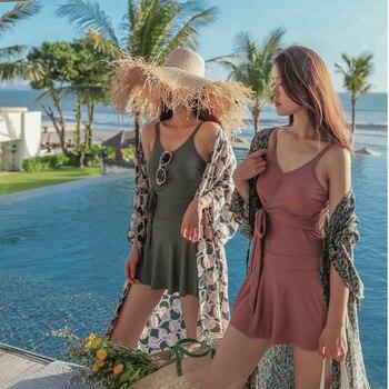 Maiô fundido feminino plus size maiô na moda terno de natação para senhoras triquinis mujer 2020 adolescentes emagrecimento banho