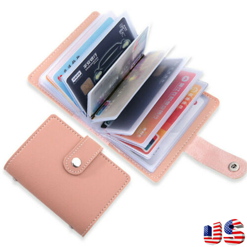 Fashion PU Leather Function 26 Bits Card Case Business Card Holder Men Women Credit Passport Card Bag ID Passport Card Wallet