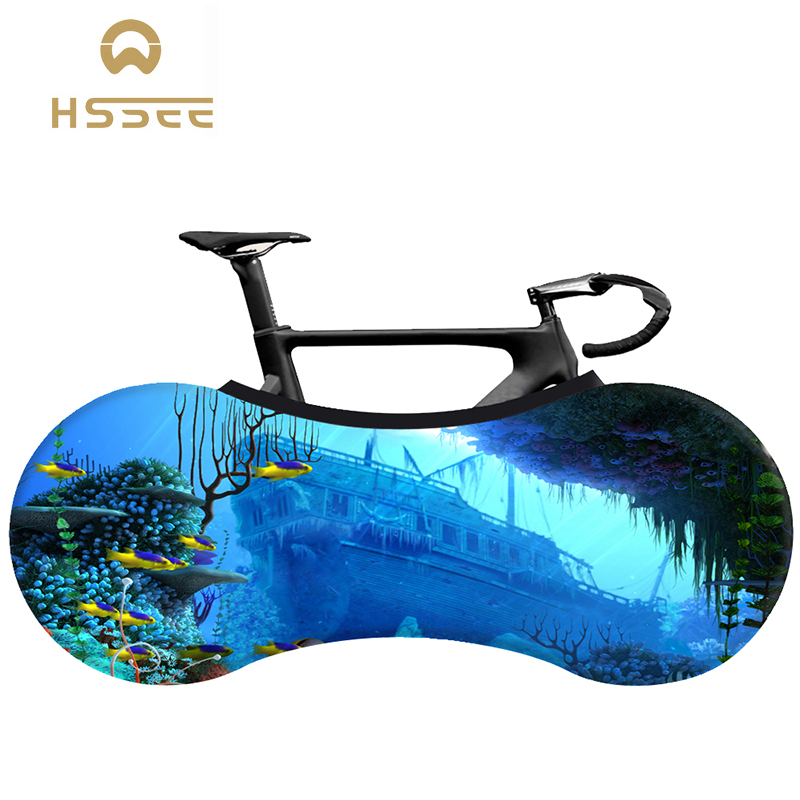 HSSEE beach series bicycle dust cover elastic fabric road bike indoor bicycle dust cover official authentic bicycle accessories