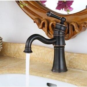 Смеситель для раковины ORB, черный бронзовый кран для ванной комнаты, черный латунный кран для раковины, водопроводный кран, смеситель для ва...