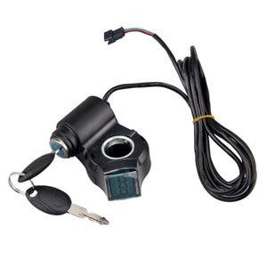 Image 3 - Elektrische Fahrzeug LCD Display Panel Daumen drossel Spannung Schlüssel Schalter Schloss mit Power Schalter für Elektrische Fahrrad/Roller/ebike