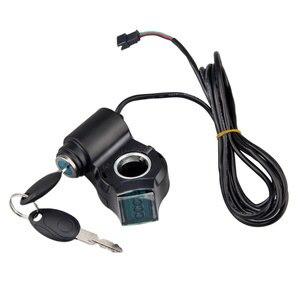 Image 3 - Verrouillage de commutateur de clé de tension daccélérateur de pouce de panneau daffichage à cristaux liquides de véhicule électrique avec le commutateur dalimentation pour le vélo électrique/Scooter/Ebike