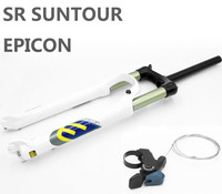 SR SUNTOUR Bicycle Fork EPICON 26 Remote White Mountain MTB Bike Fork of air damping front fork 100mm Travel