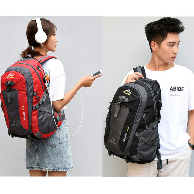 40L unisex waterproof men backpack travel pack sports bag pack Outdoor Mountaineering Hiking Climbing Camping backpack for male 5