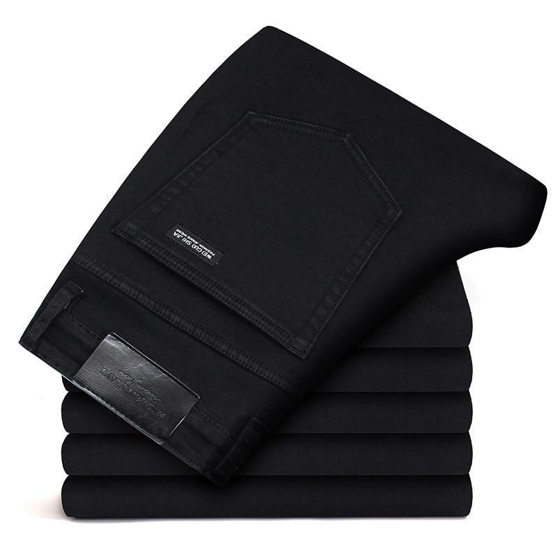New Men Jeans Black Jeans Trousers Men Clothes Elasticity Skinny Business Casual Male Denim Slim Pants Classic Homme Pantalones