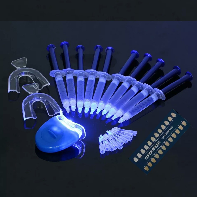 Teeth Whitening Kit Professional Peroxide Dental Bleaching System Oral Gel Kit Tooth Whitener Dental Equipment Bright Whitening
