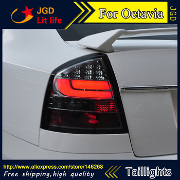 Car Styling tail lights for Skoda Octavia 2007-2012 taillights LED Tail Lamp rear trunk lamp cover Skoda Octavia taillight