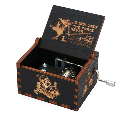 Прямая поставка, черная деревянная музыкальная шкатулка, игра в трон, Caja, музыкальная Zelda, ручная работа, Деревянная Музыкальная Коробка, рождественский подарок - Цвет: GB-XQ2-BK
