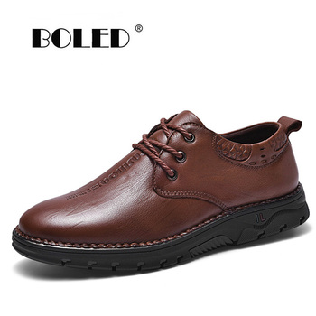 Plus Size Handmade Natural Leather Men Shoes ,Soft Breathable Men Flats Shoes Moccasins,High Quality Outdoor Casual Shoes Men
