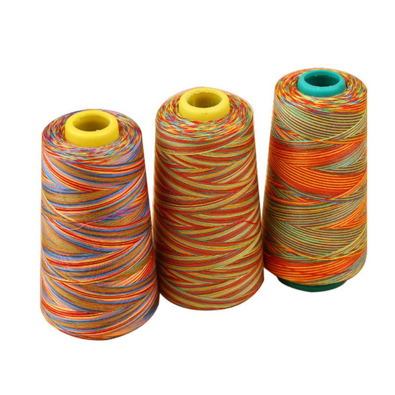 Yards Multicolored Graident Rainbow Polyester Embroidery Sewing Thread Stitching Yarn DIY Craft Knitting Accessories Supplies