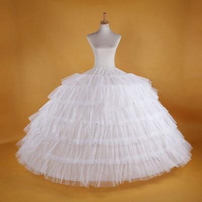 Bridal 3Hoops Maxi-Length Petticoat Multi-Layer Gown Wedding Dress Underskirt