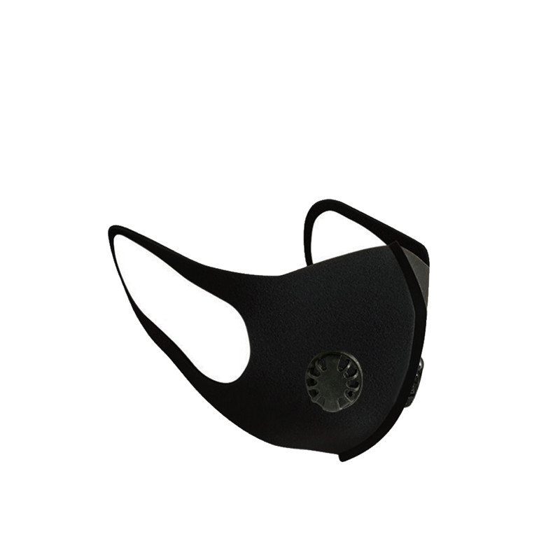 Double Breathing Valve Mask Anti Pollution Mouth Mask 3 Layer Filter Pad Adult Black Reusable Face Masks Prevent Dust Respirator