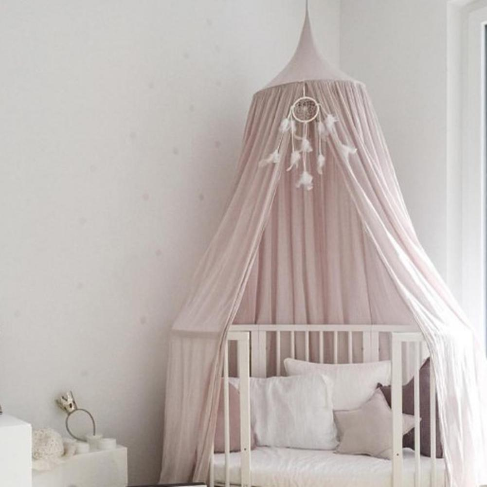 Mosquito Net for Kids Girl Baby Bed Hanging Dome Tent Net Bed Curtain Baby Crib Netting Cot Round Hung Dome Hanging Play Tent