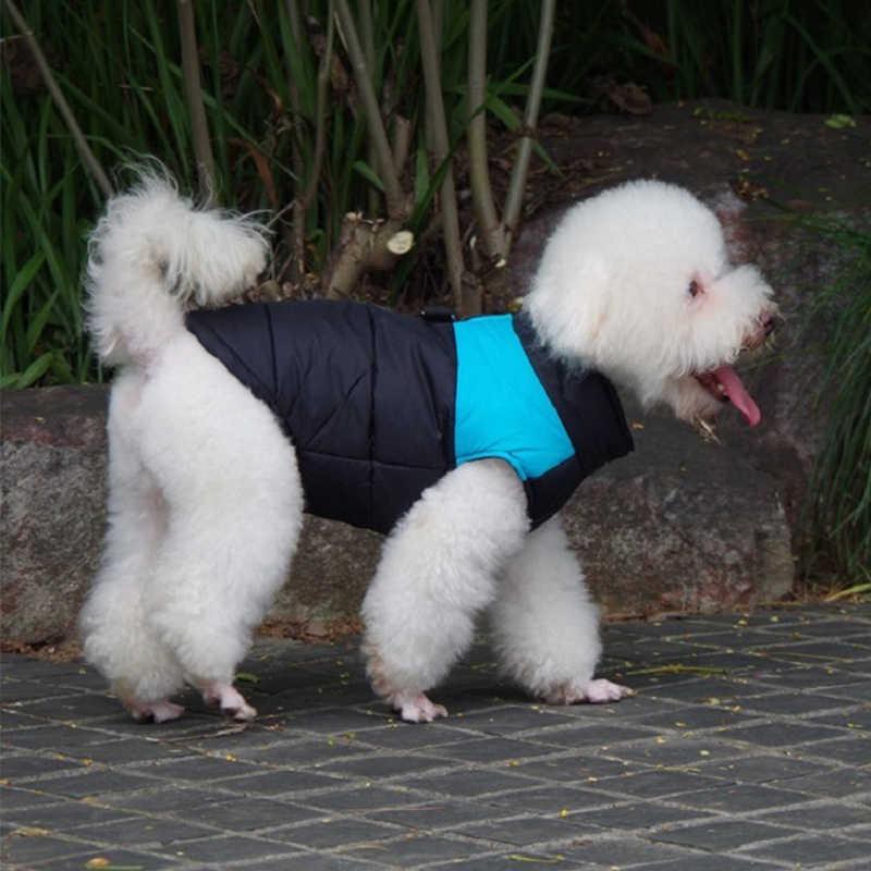 Inverno à prova de vento à prova dbig água roupas para cães grandes casaco de cachorro quente roupas de algodão gato casaco macacões outfit bulldog francês colete