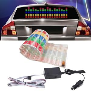 90x25CM Car LED Music Rhythm Flash Light Rear Windshield Sticker Styling Neon Lamp for Subaru Forester XV Outback Impreza STI(China)